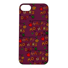 Happy Mothers Day Text Tiling Pattern Apple iPhone 5S/ SE Hardshell Case