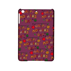 Happy Mothers Day Text Tiling Pattern iPad Mini 2 Hardshell Cases