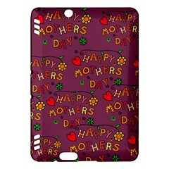 Happy Mothers Day Text Tiling Pattern Kindle Fire HDX Hardshell Case