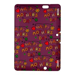 Happy Mothers Day Text Tiling Pattern Kindle Fire HDX 8.9  Hardshell Case