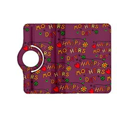 Happy Mothers Day Text Tiling Pattern Kindle Fire Hd (2013) Flip 360 Case