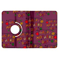 Happy Mothers Day Text Tiling Pattern Kindle Fire HDX Flip 360 Case