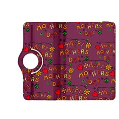 Happy Mothers Day Text Tiling Pattern Kindle Fire Hdx 8 9  Flip 360 Case