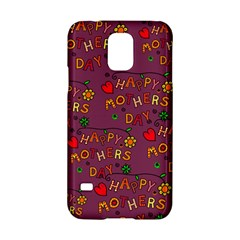 Happy Mothers Day Text Tiling Pattern Samsung Galaxy S5 Hardshell Case