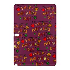Happy Mothers Day Text Tiling Pattern Samsung Galaxy Tab Pro 10.1 Hardshell Case