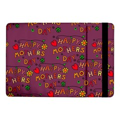 Happy Mothers Day Text Tiling Pattern Samsung Galaxy Tab Pro 10 1  Flip Case