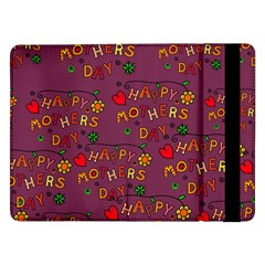 Happy Mothers Day Text Tiling Pattern Samsung Galaxy Tab Pro 12.2  Flip Case