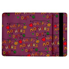 Happy Mothers Day Text Tiling Pattern iPad Air Flip