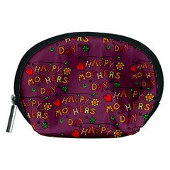 Happy Mothers Day Text Tiling Pattern Accessory Pouches (Medium)