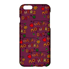 Happy Mothers Day Text Tiling Pattern Apple iPhone 6 Plus/6S Plus Hardshell Case