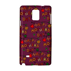 Happy Mothers Day Text Tiling Pattern Samsung Galaxy Note 4 Hardshell Case