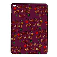 Happy Mothers Day Text Tiling Pattern iPad Air 2 Hardshell Cases