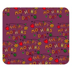 Happy Mothers Day Text Tiling Pattern Double Sided Flano Blanket (small)