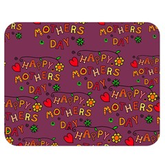 Happy Mothers Day Text Tiling Pattern Double Sided Flano Blanket (Medium)
