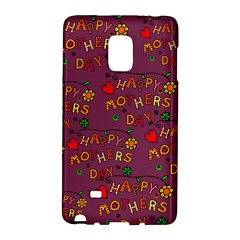 Happy Mothers Day Text Tiling Pattern Galaxy Note Edge