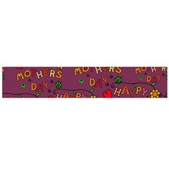 Happy Mothers Day Text Tiling Pattern Flano Scarf (Large)