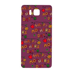 Happy Mothers Day Text Tiling Pattern Samsung Galaxy Alpha Hardshell Back Case