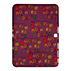 Happy Mothers Day Text Tiling Pattern Samsung Galaxy Tab 4 (10.1 ) Hardshell Case