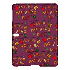 Happy Mothers Day Text Tiling Pattern Samsung Galaxy Tab S (10.5 ) Hardshell Case