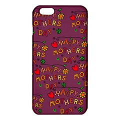 Happy Mothers Day Text Tiling Pattern Iphone 6 Plus/6s Plus Tpu Case