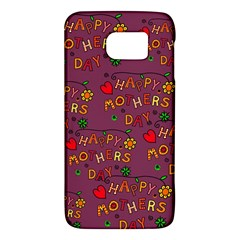 Happy Mothers Day Text Tiling Pattern Galaxy S6