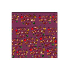 Happy Mothers Day Text Tiling Pattern Satin Bandana Scarf