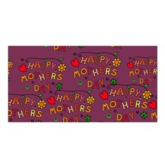 Happy Mothers Day Text Tiling Pattern Satin Shawl