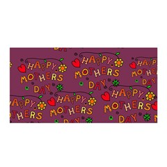 Happy Mothers Day Text Tiling Pattern Satin Wrap