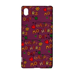 Happy Mothers Day Text Tiling Pattern Sony Xperia Z3+
