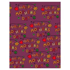 Happy Mothers Day Text Tiling Pattern Drawstring Bag (large)
