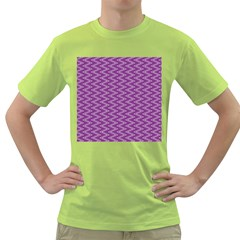 Purple Zig Zag Pattern Background Wallpaper Green T-Shirt