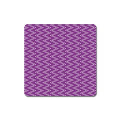 Purple Zig Zag Pattern Background Wallpaper Square Magnet