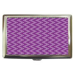 Purple Zig Zag Pattern Background Wallpaper Cigarette Money Cases