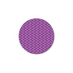 Purple Zig Zag Pattern Background Wallpaper Golf Ball Marker (4 pack)