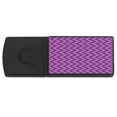 Purple Zig Zag Pattern Background Wallpaper USB Flash Drive Rectangular (1 GB)