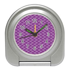 Purple Zig Zag Pattern Background Wallpaper Travel Alarm Clocks