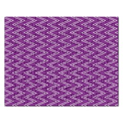 Purple Zig Zag Pattern Background Wallpaper Rectangular Jigsaw Puzzl