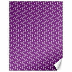 Purple Zig Zag Pattern Background Wallpaper Canvas 12  X 16