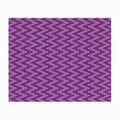 Purple Zig Zag Pattern Background Wallpaper Small Glasses Cloth (2-Side)