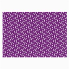 Purple Zig Zag Pattern Background Wallpaper Large Glasses Cloth (2-Side)