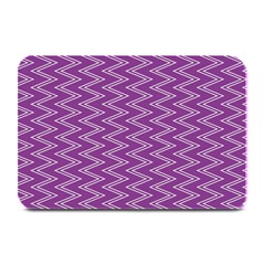 Purple Zig Zag Pattern Background Wallpaper Plate Mats