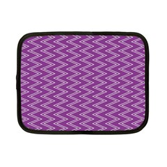 Purple Zig Zag Pattern Background Wallpaper Netbook Case (Small)