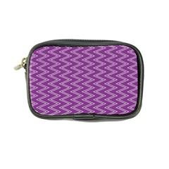Purple Zig Zag Pattern Background Wallpaper Coin Purse