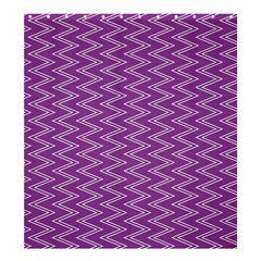 Purple Zig Zag Pattern Background Wallpaper Shower Curtain 66  x 72  (Large)