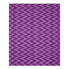 Purple Zig Zag Pattern Background Wallpaper Shower Curtain 60  X 72  (medium)