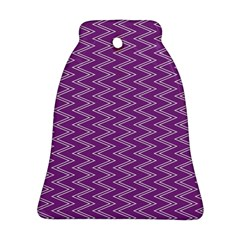 Purple Zig Zag Pattern Background Wallpaper Ornament (Bell)