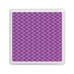 Purple Zig Zag Pattern Background Wallpaper Memory Card Reader (Square)