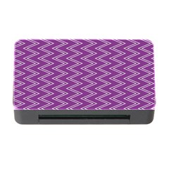 Purple Zig Zag Pattern Background Wallpaper Memory Card Reader with CF