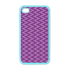 Purple Zig Zag Pattern Background Wallpaper Apple iPhone 4 Case (Color)