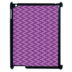 Purple Zig Zag Pattern Background Wallpaper Apple iPad 2 Case (Black)